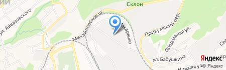 Базарус на карте Ставрополя