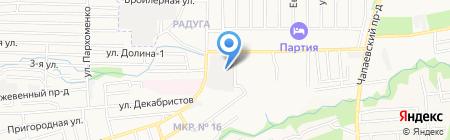 СТАВРОПОЛЬСКОЕ на карте Ставрополя