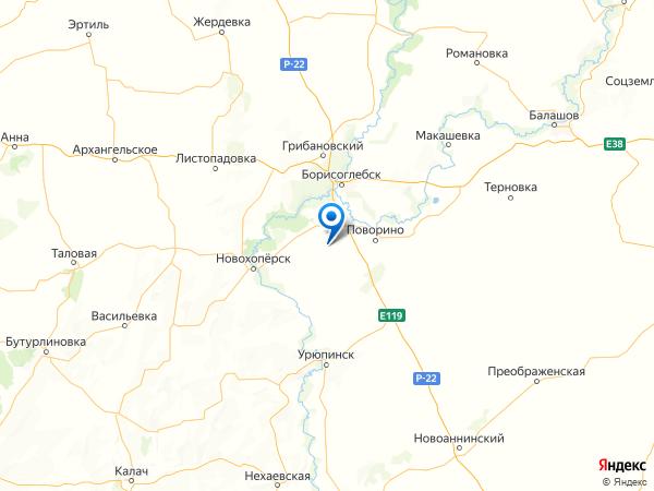 село Поляна на карте