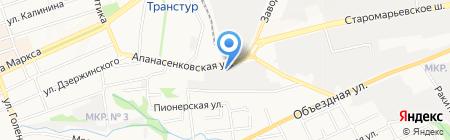 Киперон на карте Ставрополя