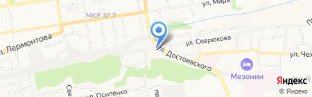Жестяной цех на карте Ставрополя