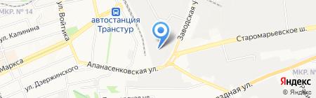 Установочный центр на карте Ставрополя