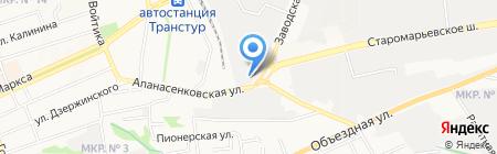 ГАЗ-КАВКАЗ на карте Ставрополя