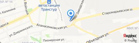 Магазин автозапчастей для ГАЗ на карте Ставрополя