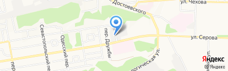 Автошкола на карте Ставрополя