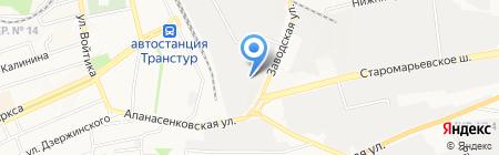 Аврора на карте Ставрополя