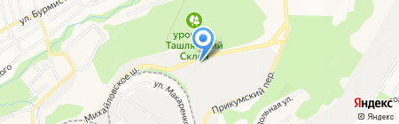 Михайловские бани на карте Ставрополя