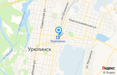 Местоположение на карте пункта техосмотра по адресу Волгоградская обл, г Урюпинск, ул Карбышева, д 1Г литер а