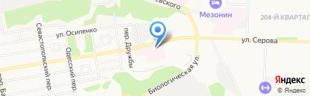 Краевая клиническая инфекционная больница на карте Ставрополя