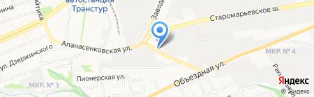 12-24 Вольта на карте Ставрополя