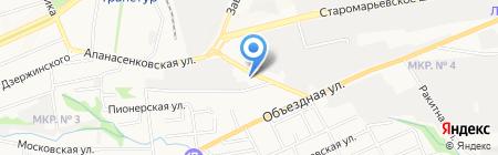 АллАвто на карте Ставрополя
