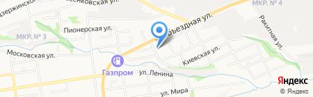Баня на карте Ставрополя