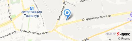 Детский сад №18 на карте Ставрополя