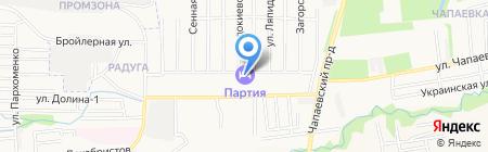 Партия на карте Ставрополя