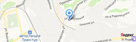 Средняя общеобразовательная школа №41 на карте Ставрополя