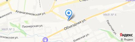 Белая акула на карте Ставрополя