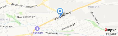 Гаяна на карте Ставрополя