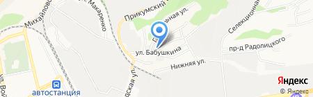 Стеклотара на карте Ставрополя