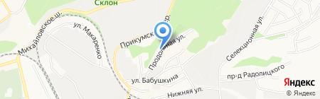 Златокузнец на карте Ставрополя