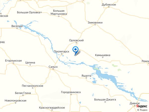 поселок Дольный на карте
