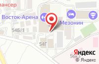 Схема проезда до компании Техрегион в Ставрополе
