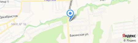 Чапаевский на карте Ставрополя