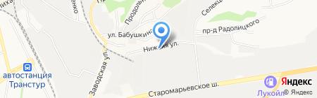 Фроставто на карте Ставрополя