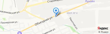 Автоджин на карте Ставрополя