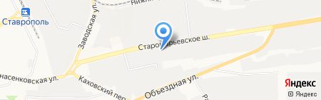 Хлебозавод №3 на карте Ставрополя