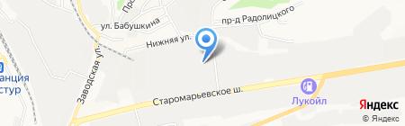 Сочинский мясокомбинат на карте Ставрополя