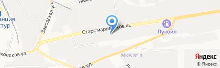 Электромеханический завод на карте Ставрополя