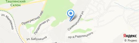 Велес на карте Ставрополя