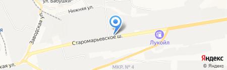 Суворовский редут-Ставрополье на карте Ставрополя
