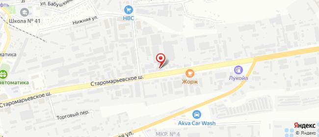 Карта расположения пункта доставки DPD Pickup в городе Ставрополь