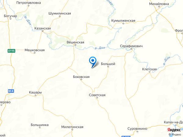 хутор Горбатов на карте