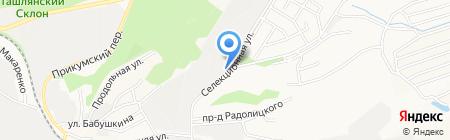 Т-эра на карте Ставрополя