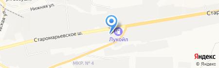 Гилева О.М. на карте Ставрополя