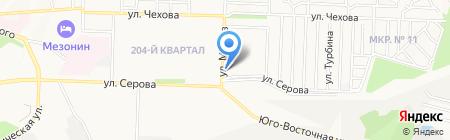Материк на карте Ставрополя