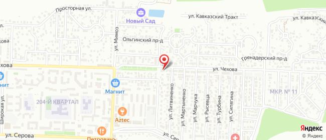 Карта расположения пункта доставки Ставрополь Чехова в городе Ставрополь