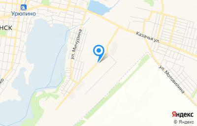 Местоположение на карте пункта техосмотра по адресу Волгоградская обл, г Урюпинск, мкр Гора Восточная, д 127/10