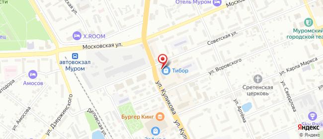 Карта расположения пункта доставки СИТИЛИНК в городе Муром
