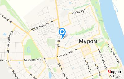 Местоположение на карте пункта техосмотра по адресу Владимирская обл, г Муром, ул Строителей, д 7