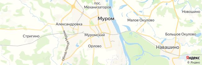 Муром на карте