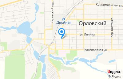 Местоположение на карте пункта техосмотра по адресу Ростовская обл, п Орловский, ул Красноармейская, д 68А