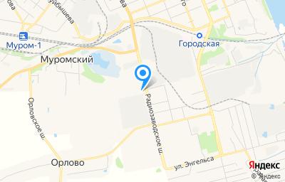 Местоположение на карте пункта техосмотра по адресу Владимирская обл, г Муром, ш Радиозаводское, д 23Г