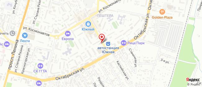 Карта расположения пункта доставки Автостанция Южная в городе Черкесск
