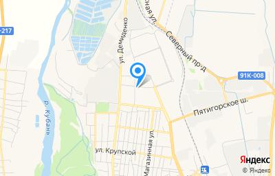 Местоположение на карте пункта техосмотра по адресу г Черкесск, ул Свободы, д 2И