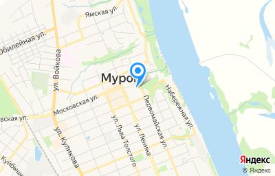 Местоположение на карте пункта техосмотра по адресу Владимирская обл, г Муром, ул Первомайская, д 1