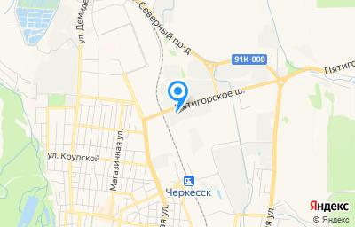 Местоположение на карте пункта техосмотра по адресу г Черкесск, ул Пятигорское шоссе, д 4