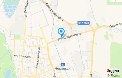 Местоположение на карте пункта техосмотра по адресу г Черкесск, ул Пятигорское шоссе, зд 31А